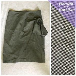 Express Faux Wrap Skirt